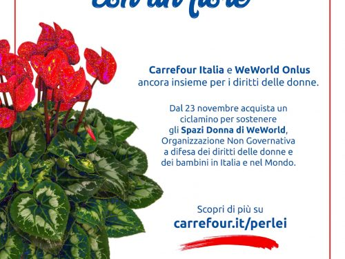 CARREFOUR ITALIA E WEWORLD ONLUS ANCORA INSIEME CONTRO LA VIOLENZA SULLE DONNE